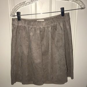 Gray faux suede skirt from free people